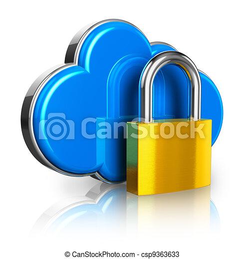 Cloud computing security concept - csp9363633