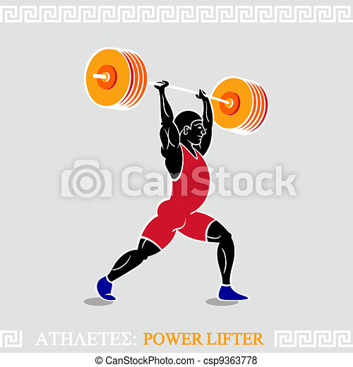 Athlete Power lifter - csp9363778