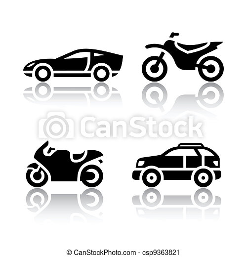 Set of transport icons - sports transportation - csp9363821