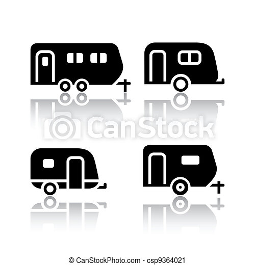 Set of transport icons - trailers - csp9364021