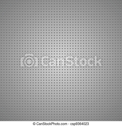 Structured gray metallic perforated sheet - csp9364023