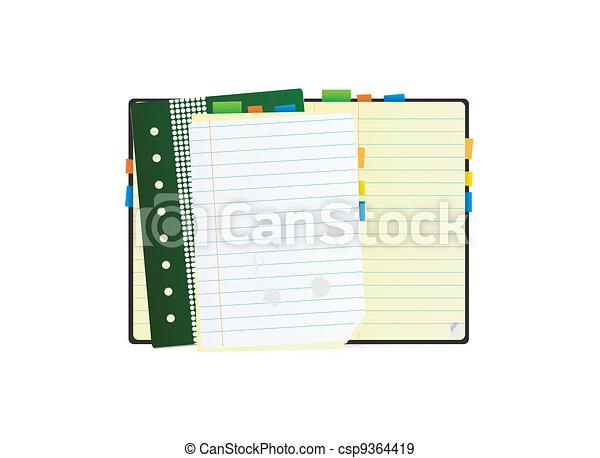Detailed organizer - csp9364419
