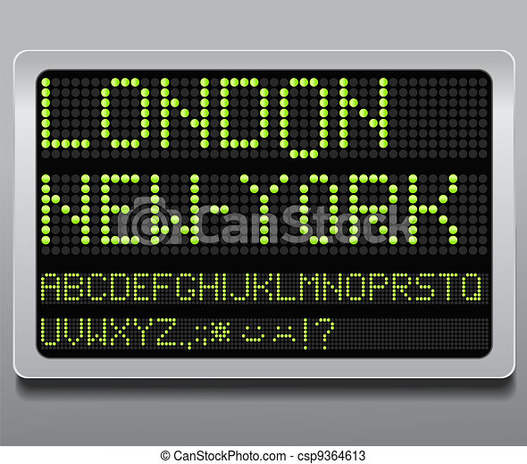 Information led board - csp9364613