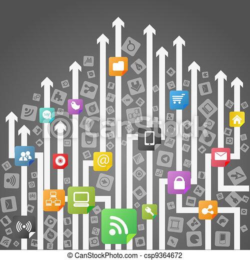 Modern social media abstract scheme - csp9364672