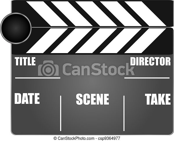 movie clapper board - csp9364977
