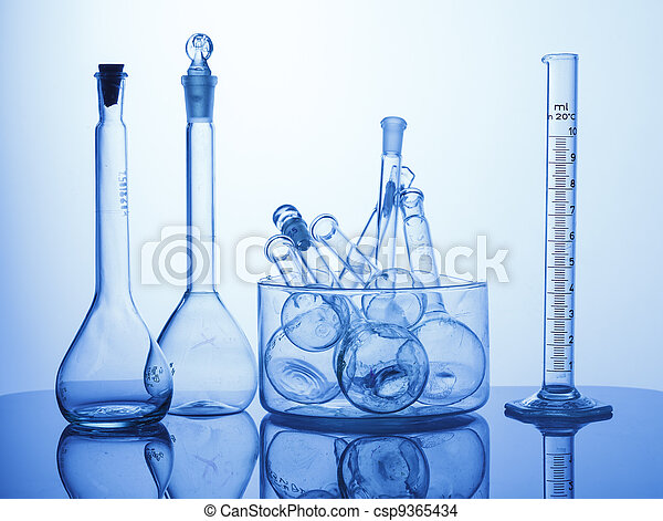 Lab assorted glassware equipment - csp9365434