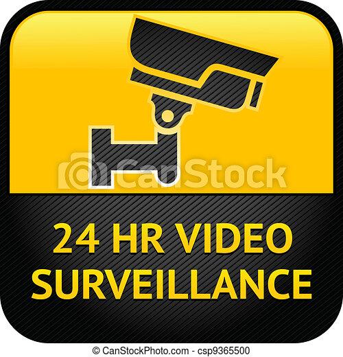 Video surveillance sign, cctv label - csp9365500