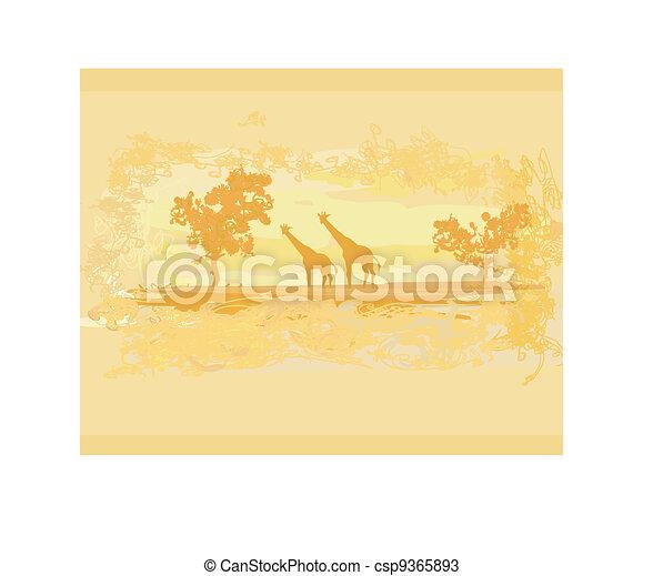 African fauna and flora  - csp9365893