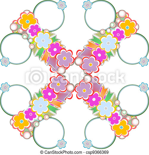 Spring or summer abstract nature background with flowers - csp9366369