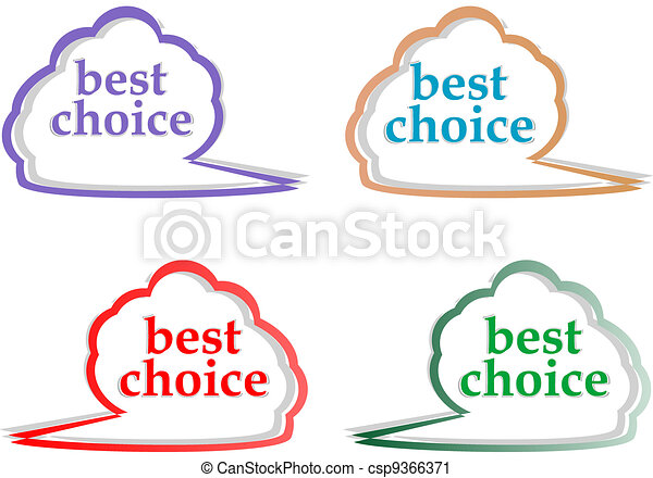 speech bubbles set with best choice message - csp9366371