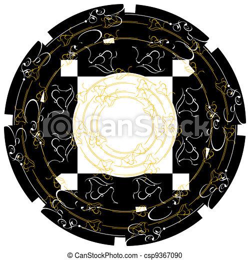 Vintage frames Gold decor label. Vector border - csp9367090