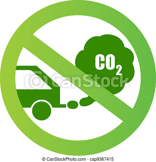 Ecological transport sign - csp9367415