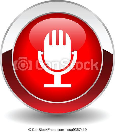 Vector microphone button - csp9367419