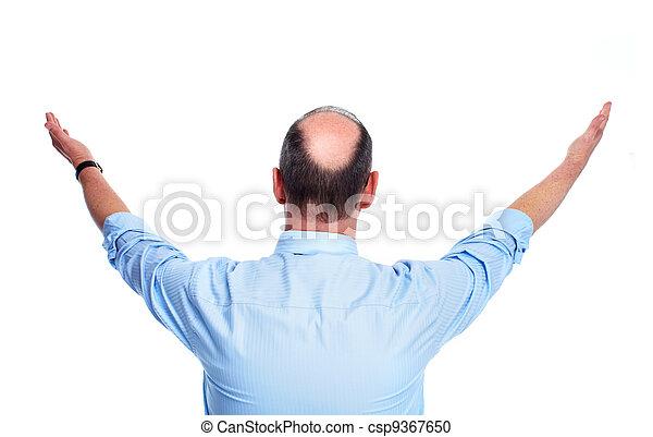 Hair loss. Bald man. - csp9367650