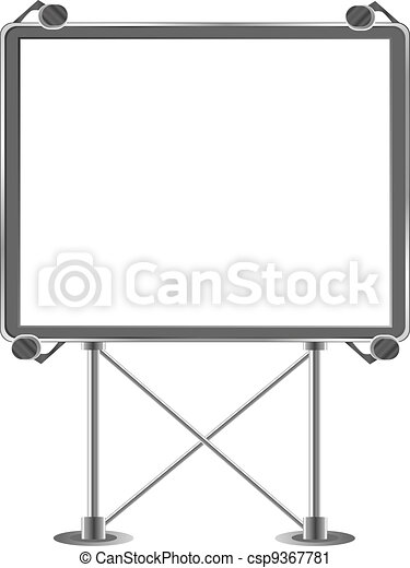 Grand outdoor billboard over white - csp9367781