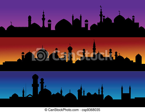 Mosque cityscapes - csp9368035