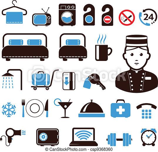 Hotel icons - csp9368360