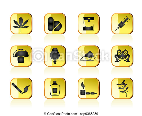 Different kind of drug icons - csp9368389