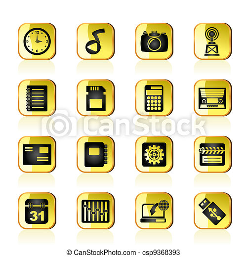 Phone Performance, Internet icons - csp9368393