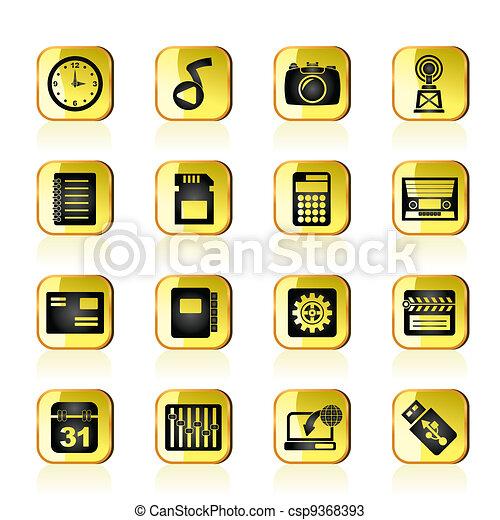 Phone Performance, Internet icons - csp9368393
