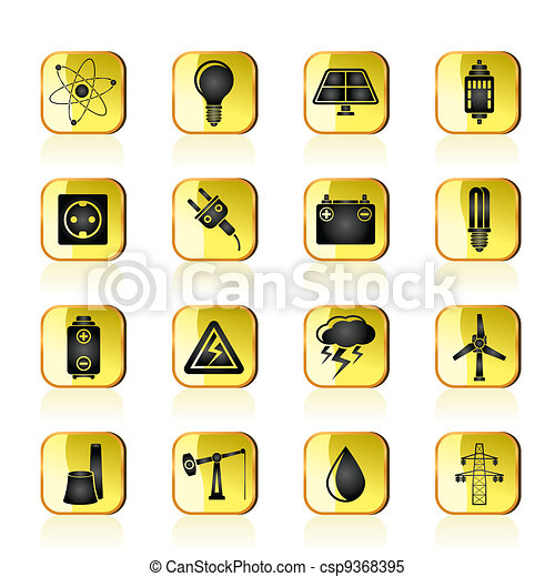 Power and electricity industry icon - csp9368395