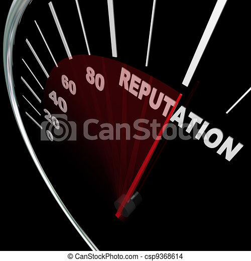 Reputation Speedometer Improving Your Standing Results - csp9368614