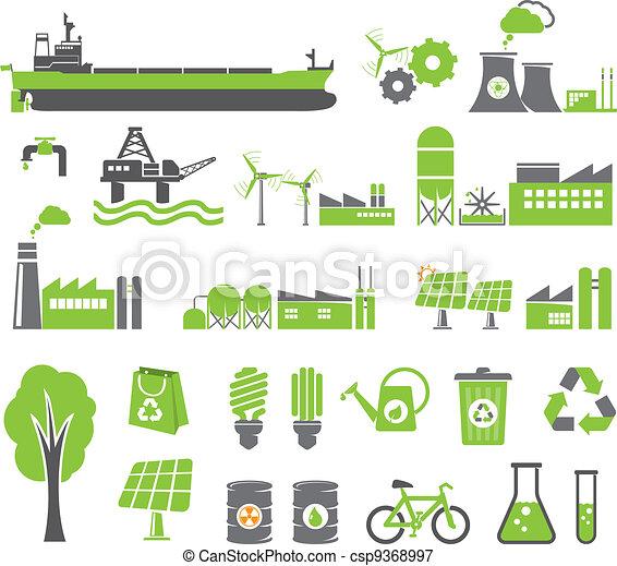Green energy symbols - csp9368997