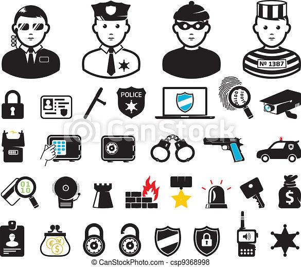 Crime world symbols, set - csp9368998