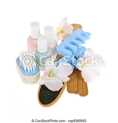 Pedicure accessories and tools - csp9369563
