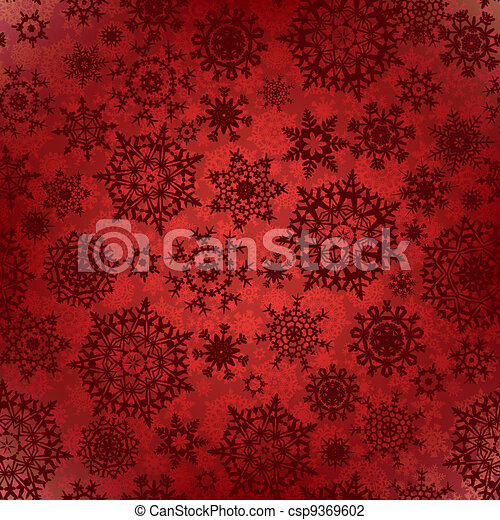 Seamless deep red christmas texture pattern. EPS 8 - csp9369602