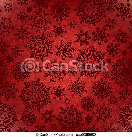 Seamless deep red christmas texture pattern. EPS 8 - csp9369602