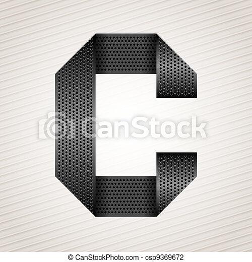 Letter metal ribbon - C - csp9369672