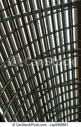 Curved reinforced steel roof - csp9369861