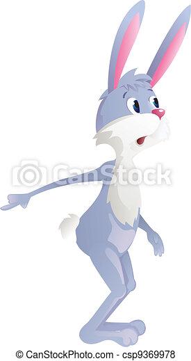 Surprised rabbit - csp9369978