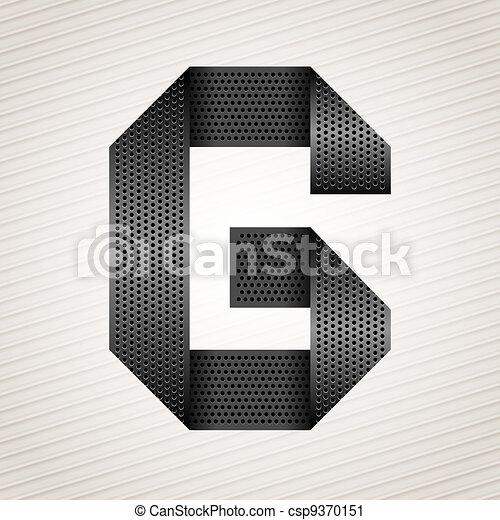 Letter metal ribbon - G - csp9370151