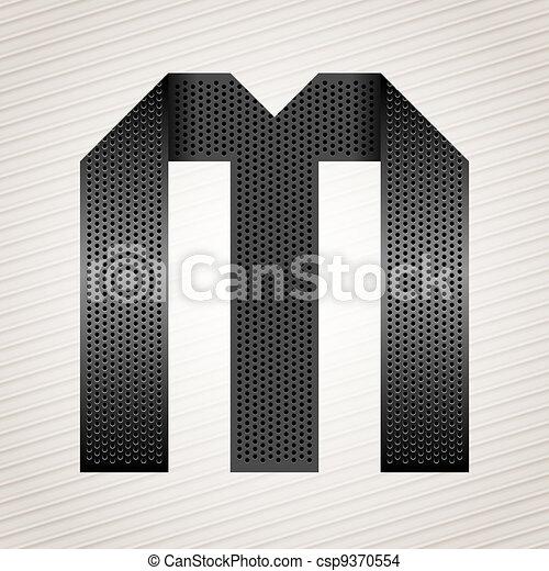 Letter metal ribbon - M - csp9370554