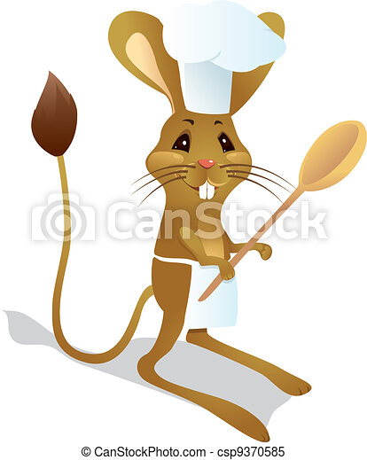 Jerboa chef with spoon - csp9370585