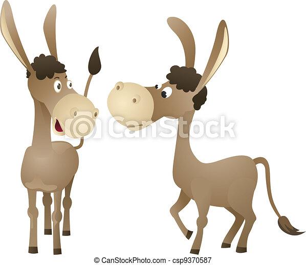 Funny cartoon donkey - csp9370587