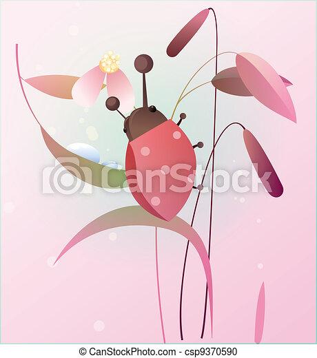 Ladybird on a flower - csp9370590