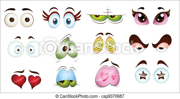 Cartoon Character Eyes - csp9370687