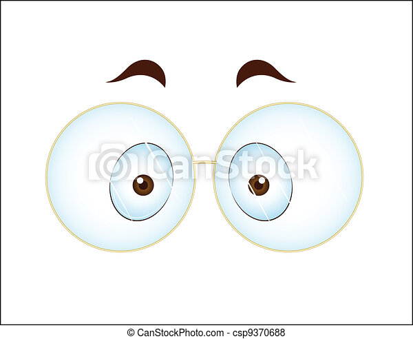Surprised Eye with Glasses - csp9370688