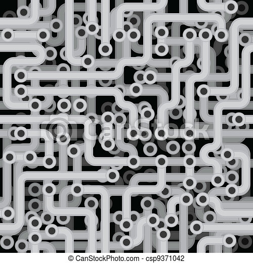 Seamless monochrome vector texture - electrical engineering - csp9371042