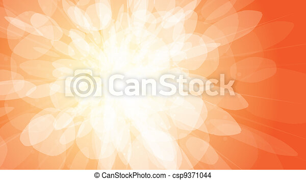 Flash on an orange background - vector illustration - csp9371044