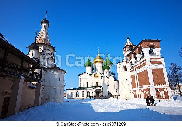 Saviour-Euthimiev monastery at Suzdal in winter  - csp9371209