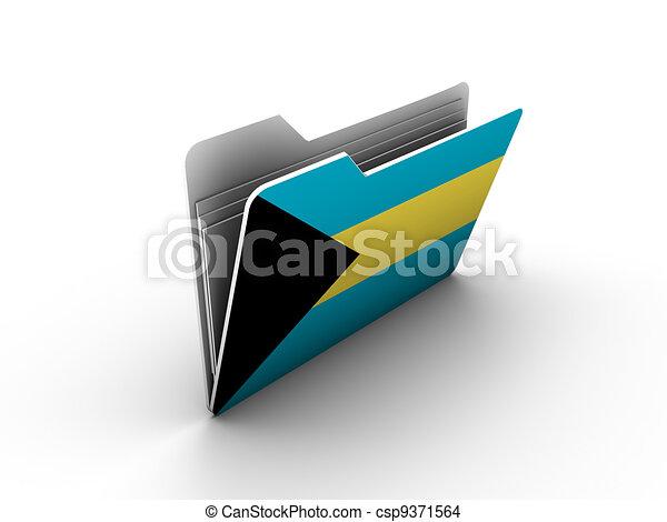 folder icon with flag of bahamas - csp9371564