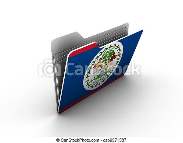 folder icon with flag of belize - csp9371587