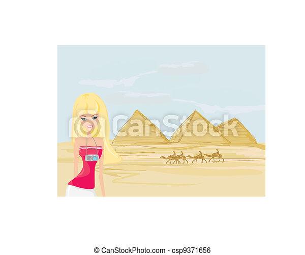 pyramids in Giza - csp9371656