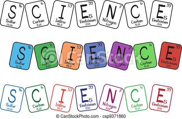 Vector Clipart of Periodic table elements - science ...