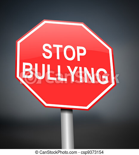 Stop bullying sign. - csp9373154
