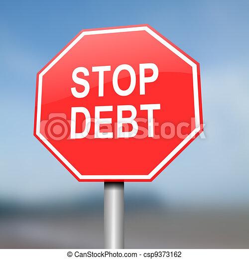 Stop debt concept. - csp9373162